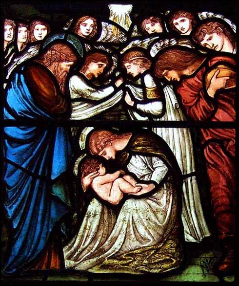 """""""Nativity"""" Stained Glass Window, Edward Burne-Jones (1833-1898)"""