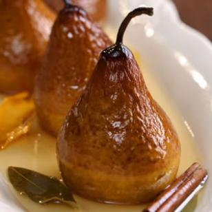RECIPE: Riesling Baked Pears