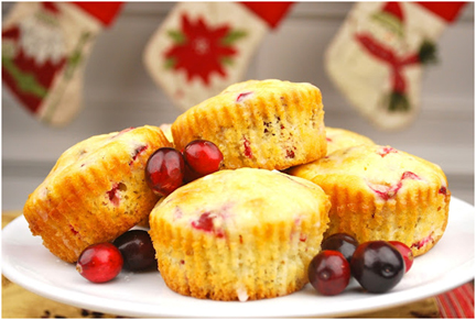 RECIPE: Sparkling Cranberry Muffins