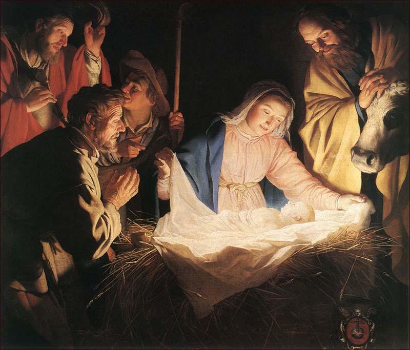 Adoration of the Shepherds – Gerard (Gerrit) van Honthorst
