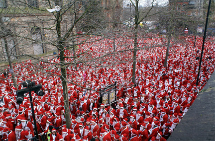 In Pictures: Largest Gathering of Santa Clauses