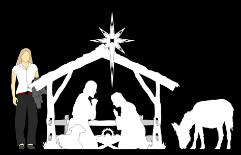 Life Size Nativity, Nativity Scene Outdoor