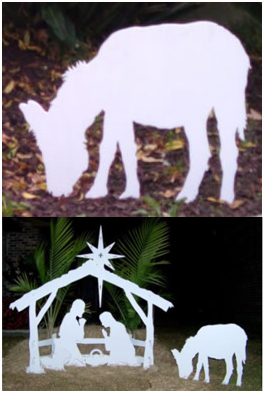 Nativity Set Inspiration Donkey, Nativity Scene Outdoor