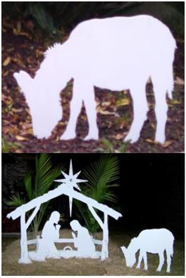 Nativity Set Inspiration Donkey, Nativity Scene Outdoor
