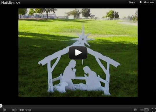 Assembly Video, Nativity Scene Outdoor